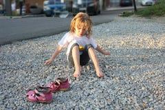 Essiccazione della bambina Fotografia Stock