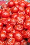 In Essig eingelegte Tomaten Lizenzfreies Stockbild