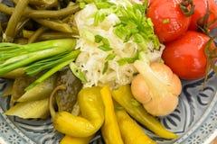 In Essig eingelegtes Gemüse Stockfotografie