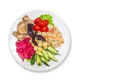In Essig eingelegtes Gemüse mit Kartoffeln Lizenzfreie Stockbilder