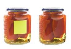 In Essig eingelegtes peper im Glas Lizenzfreies Stockbild