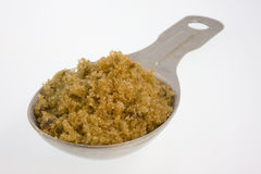 Esslöffel brauner Zucker stockbilder