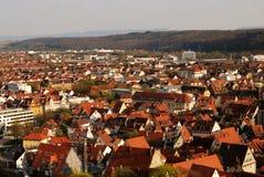 esslingen全景斯图加特视图 免版税库存图片