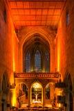 Esslingen教会内部圣诞节音乐会12月2016光 免版税库存图片