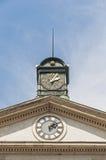 Esslingen的上午Neckar,德国新的城镇厅 免版税库存照片