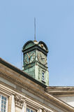 Esslingen的上午Neckar,德国新的城镇厅 免版税图库摄影