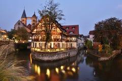 Esslingen, очаровательный городок около Штутгарта стоковая фотография rf