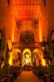 Esslingen chiesa Natale concerto luci interne del dicembre 2016 fotografia stock