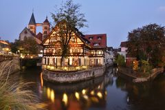 Esslingen Czarowny miasteczko Blisko Stuttgart fotografia royalty free