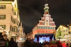 Esslingen julmarknad Fotografering för Bildbyråer
