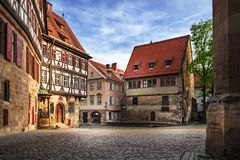 Esslingen middeleeuwse gebouwen Stock Afbeeldingen