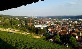 Esslingen morgens Neckar Lizenzfreie Stockfotografie
