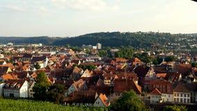 Esslingen morgens Neckar Stockfoto