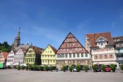 Esslingen am Neckar, Baden Wurttemberg, Germany. Medieval buildings in Market Square - Marktplatz, Rathaus in Esslingen am Neckar, Baden Wurttemberg, Germany Stock Images