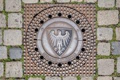 Esslingen am Neckar city coat of arms, Germany stock image