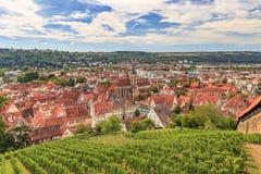 Esslingen am Neckar in de vallei van Neckar dichtbij Stuttgart royalty-vrije stock afbeeldingen