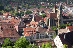 Esslingen am Neckar views from Castle Burg near Stuttgart, Baden Royalty Free Stock Images