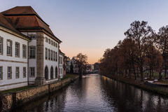 Esslingen Rathaus Germany Landscape River Outdoors Sunset Weathe Royalty Free Stock Photography