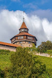 Esslingenkasteel Burg, Duitsland stock afbeeldingen