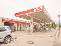 Esso-benzinepost Royalty-vrije Stock Foto's