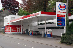 Esso Express Gas Station Royalty Free Stock Photography