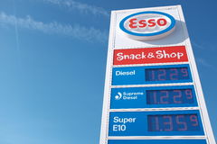 Esso gas prices Stock Image