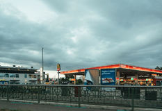 Esso gas station in German city of Kehl Royalty Free Stock Photos