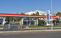 Esso gas station in Paphos, Cyprus. Stock Photos
