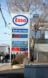 Esso Gas Station Sign royalty free stock photo
