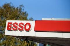 ESSO petrol station. Hamburg, Germany. royalty free stock photos
