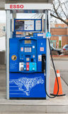 Esso Pump at Gas Station in Toronto Stock Image