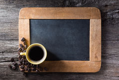 Esspresso cup on slate Royalty Free Stock Photo