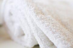 Essuie-main blanc Photographie stock libre de droits