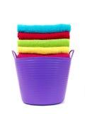 Essuie-main colorés de salle de bains Photo libre de droits