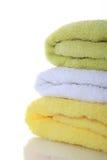 Essuie-main colorés empilés Image stock