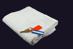 Essuie-main de gymnastique avec des clés Image stock