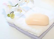 essuie-main de savon Photos libres de droits