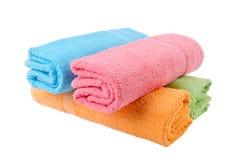 Essuie-main, essuie-main de bain sur le fond. Images stock