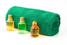 Essuie-main et shampooing Photographie stock
