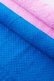 Essuie-main pliés colorés Image stock