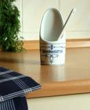 essuie-main réglé de cuisine en céramique Image stock