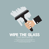Essuyez le verre Photo libre de droits