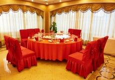 Esszimmer der Gaststätte Stockbilder