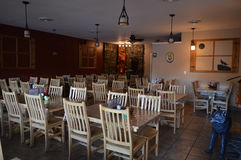 Esszimmer des Familien-Restaurants Stockfoto