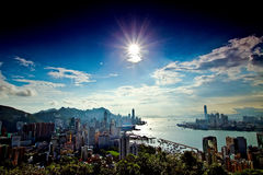 Está aqui Hong Kong Fotografia de Stock Royalty Free