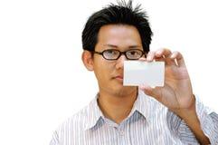 Está aqui meu cartão! Fotos de Stock