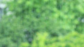 Está chovendo atrás da janela vídeos de arquivo