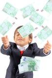 Está chovendo o dinheiro Imagens de Stock