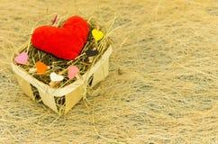 Está 14 de febrero el día de amantes Celebración del día del ` s de la tarjeta del día de San Valentín Imagenes de archivo