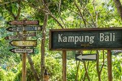 Está em toda parte o sinal afixado no safari & na Marine Park de Bali fotografia de stock